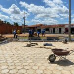 Avança construção de praça no Residencial José Reinaldo Tavares, em São Luís